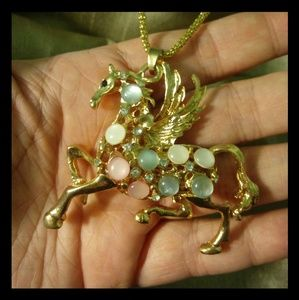 Betsey Johnson Pegasus Necklace